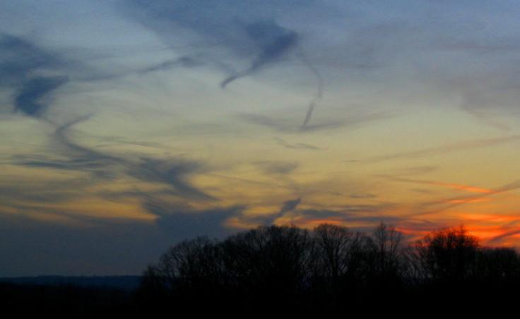 Sunset Black Streaks
