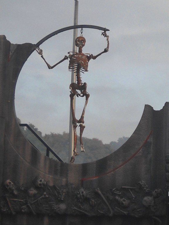 Skeleton at Kings Island