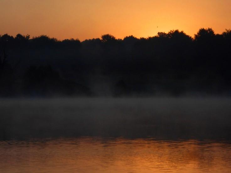 Lake Sunrise Dark and Light