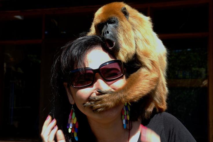 Woman Monkey Mouth