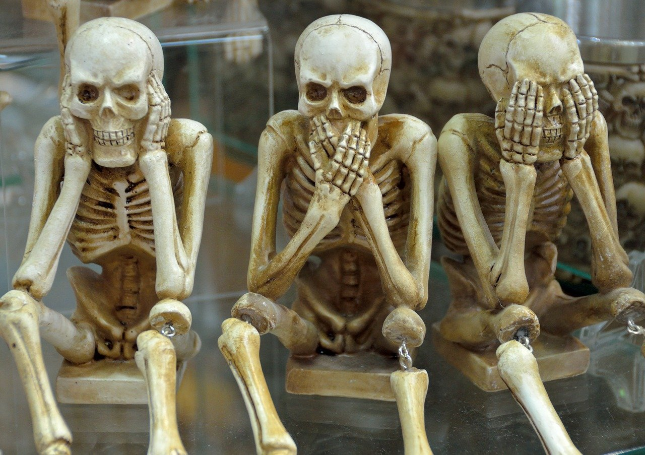 skeletons see hear speak