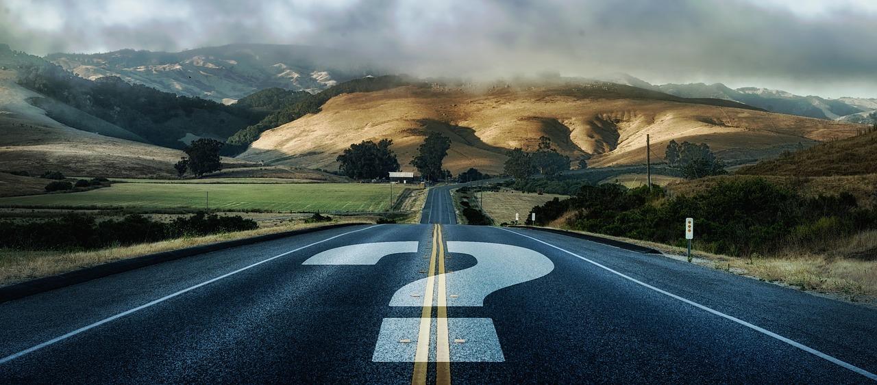 Road Question Mark